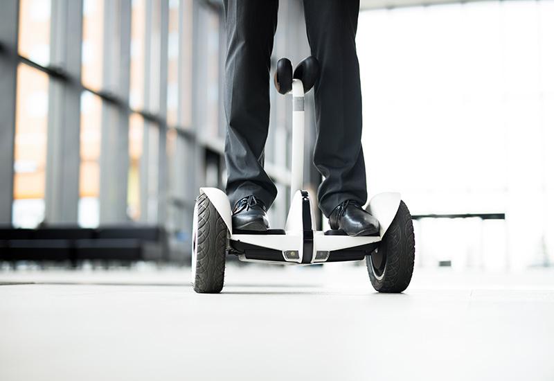 Moviéndose en el hoverboard